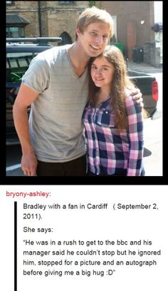 thats my boy<<GAH CAN THIS HAPPEN TO ME I WANT A BRADLEY HUG