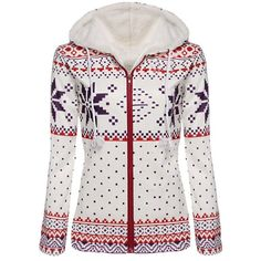 Endearing Fleece Hooded Long Sleeve Snowflake Printed Christmas Hoodie For Women