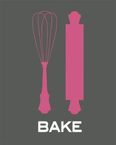 Items similar to Art for Kitchen - Baking Basics - Print - Digital Illustration Poster - Kitchen Art on Etsy Kitchen Poster, Kitchen Art, Funny Stickers, Wall Stickers, Printable Paper, Printable Wall Art, Recipe Scrapbook, Subway Art, Free Printables