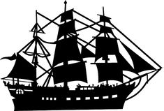 Sailer Boat Ship Silhouette Sailing S Silhouette Clip Art, Silhouette Images, Libros Pop-up, Pirate Boats, Ship Drawing, Shadow Puppets, Stencil Art, Stencils, Scroll Saw Patterns