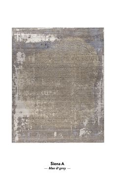 Siena Grey and Blue - Hand Knotted rug by Bazaar Velvet and Thibault Van Renne - A transitional design is given an urban edge with distressing and abstract details - Luxury modern rugs London