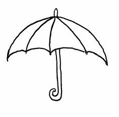 kleurplaat paraplu www.dewereldvanwiepje.nl