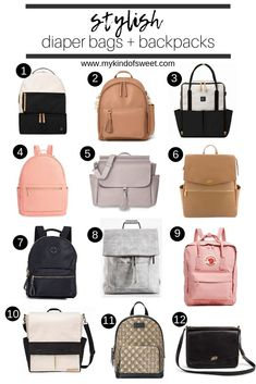 Suzanne of My Kind Of Sweet shares a huge round up of the most stylish diaper bags and backpacks! Whether you have a newborn, toddler or tyke, there's a stylish bag for you. Diaper Bag Backpack, Travel Backpack, Backpack Outfit, Fashion Backpack, Insulated Backpack, Best Diaper Bag, Baby Diaper Bags, Stylish Diaper Bags, Chic Diaper Bag