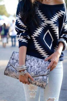 sweater cardigan white summer long sleeves dark chevron aztec - love this aztec sweater!