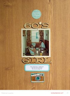 #papercraft #Scrapbook #layout. 60's girl by melanie louette at @studio_calico