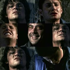 "Dad, don't you let it kill me!"" - i was screaming here Jensen Ackles, Jared And Jensen, Supernatural Wallpaper, Tv Supernatural, Supernatural Seasons, Jared Padalecki, John Winchester, Mark Sheppard, Jeffrey Dean Morgan"
