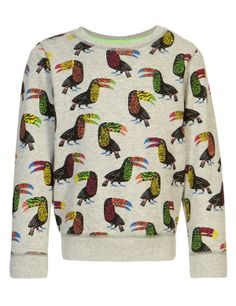 Pure Cotton Toucan Print Sweat Top | M&S