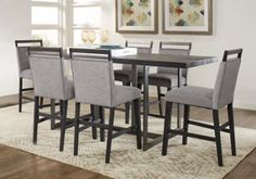 Amsterdam Avenue Black 5 Pc Counter Height Dining Room