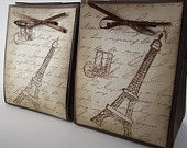 Eiffel Tower Gift Bags - Eiffel Tower  French Themed Favor bags Gift Bags Set of 2