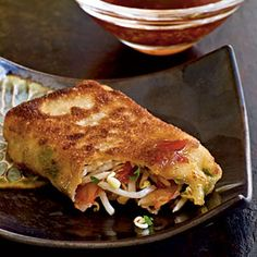 Pan-Fried Egg Rolls. These are amazing http://www.myrecipes.com/recipe/pan-fried-egg-rolls-10000001988543/