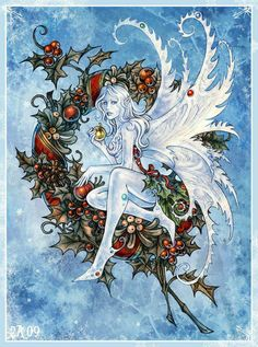 Christmas Fairy Jolies Images, Winter Solstice, Fantasy Art, Fantasy Fairies, Sabbats, Christmas Fairy, Celtic Christmas, Winter Christmas, Fairy Pictures