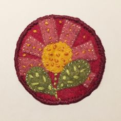 Embroidered felt patch series, plant. #embroidery #felt #handmade #smallart #womenartists #sewing Small Art, Whittling, Patches, Felt, Embroidery, Sewing, Handmade, Plant, Needlework
