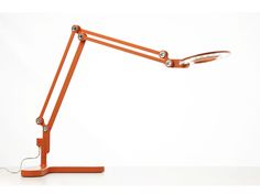 Pablo Link LED Task Lamp. Medium Table Lamp in Orange. Designed by Peter Stathis. Available at DESU DESIGN