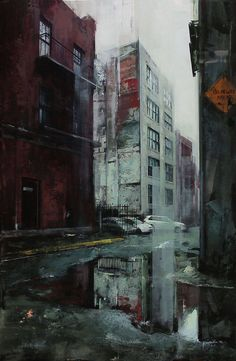 Captivating City Streets Paintings  Lindsey Kustusch takes us with her in the streets of several cities in the United States. Through her works, she perfectly conveys the atmosphere of some urban areas, with their relief, their specificities and their lights coming from everywhere. Accurate brushstrokes for a realistic and captivating rendering that can be discovered below.