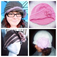 A showcase from these wonderful makers using my cloche crochet pattern