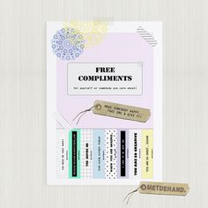 give a smile...get a smile (: {free compliments printable}