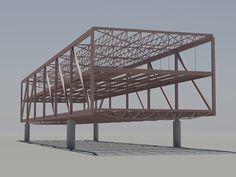 Architecture Panel, Concept Architecture, Architecture Details, Truss Structure, Steel Structure Buildings, 3d Design, House Design, Scale Model Homes, Structural Model