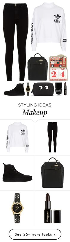 """3.486"" by katrina-yeow on Polyvore featuring adidas, 7 For All Mankind, Ann Demeulemeester, DKNY, Kate Spade, Anya Hindmarch, Nails Inc. and Gorgeous Cosmetics"