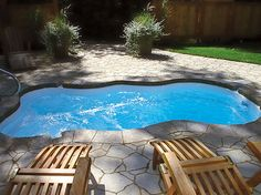 THIS is the small pool we want for our back yard with swim jets, sadly I can only find it in Canada and apparently they don't sell in USA because they have never answered my 5 emails. Pooh...its a 8 x 14 insert, if anyone sees one like..please let me know