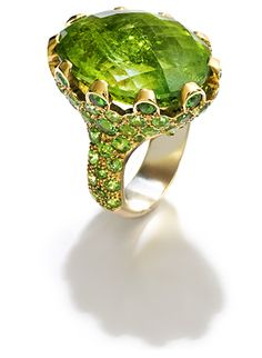 Fochtmann Rose Gold Tourmaline tsavorite Ring