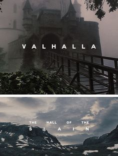 "charlesmmacaulay: ""mythology meme:  [4/4] locations ↳ valhalla "" In Norse mythology, Valhalla is the place where the souls of those who die in battle are gathered to await Ragnarök, the end of the world. Among them are all sorts of warriors, from..."