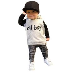 Moonker Fashion Toddler Infant Baby Boys Clothes Set Hooded Tops  Long Pants Outfits Set 012 Months White * Be sure to check out this awesome product. (This is an affiliate link) #StylishBabyClothes Baby Outfits, Little Boy Outfits, Kids Outfits, Baby Boy Fashion, Toddler Fashion, Kids Fashion, Style Fashion, Fashion 2015, Winter Fashion