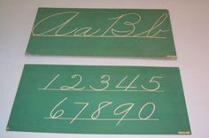 Vtg 1950's Green Classroom Wall Letter Alphabet Cards Cursive. I wanted these, but man they sold for a lot of $$$.