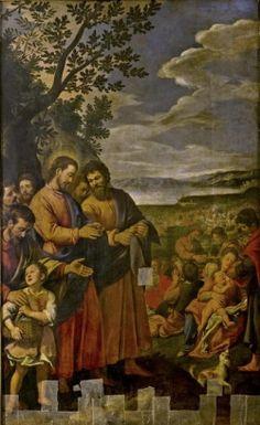Santi di Tito (1536-1603) - Moltiplicazione dei pani e dei pesci - Museo civico, Prato
