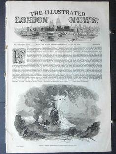 1846-ILLUSTRATED LONDON NEWS- Mount Vesuvius Eruption.