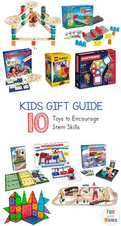 These awesome kids gift ideas that will encourage stem skills are great for your child's birthday, year old boys and girls. Whether you use it as a holiday gift, Christmas gift, stocking stuffer, or even just because these gifts will give your child Infant Activities, Stem Activities, Activities For Kids, Crafts For Kids, Educational Activities, Christmas Gifts For Boys, Cool Gifts For Kids, Celebrating Christmas, Christmas Snowman