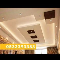 10 Energetic Cool Ideas: False Ceiling Section Interior Design false ceiling architecture ideas.False Ceiling Living Room And Dining plain false ceiling exposed brick.False Ceiling Modern Home. Simple False Ceiling Design, House Ceiling Design, Ceiling Design Living Room, Bedroom False Ceiling Design, False Ceiling Living Room, Living Room Designs, Living Rooms, Ceiling Panels, Ceiling Beams