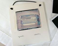 Typewriter  Polaroid Transfer