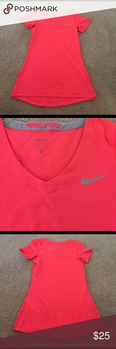 Pink NikePro Dri-Fit Tee No signs of wear. EUC. Perfect for workouts indoors or outdoors when warm. Nike Tops Tees - Short Sleeve