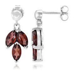 Lindi Garnet 925 Sterling Silver Earrings Garnet Stone, Sterling Silver Earrings, Drop Earrings, Jewelry, Jewlery, Jewerly, Schmuck, Drop Earring, Jewels
