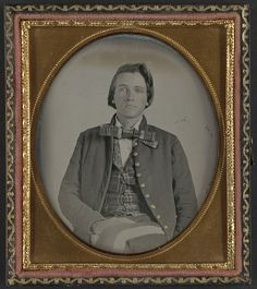 [Unidentified soldier in Confederate nine-button frock coat] (LOC) by The Library of Congress, via Flickr