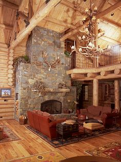 Oregon Pictures: Hunting Lodge U0026 Fireplace   Highland Hills Ranch