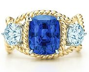 Rope Ring With Sapphire