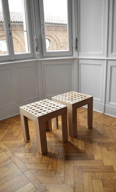 #Sofia - #sgabello, in #legno #massello di #teak #comodino #bedsidetable #living #furniture #mg12