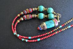 Tribal Necklace, Nepalese Necklace, Turquoise, Nepal Beads Necklace, Tibetan Necklace, Tibetan Jewelry, Ethnic Necklace, Coral, Lapis (569)