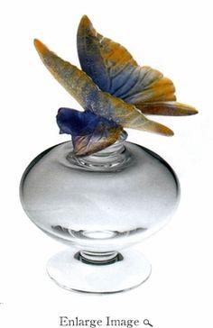 Daum Crystal Butterfly Perfume Bottle