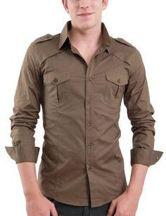 Amazon.com: Doublju Mens Casual Shoulder Strap Shirts: Clothing