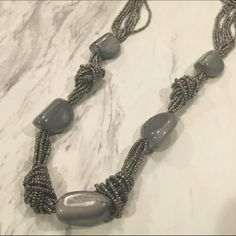 Gray necklace with stones Gray with hints of silver necklace with stones NO TRADES Jewelry Necklaces