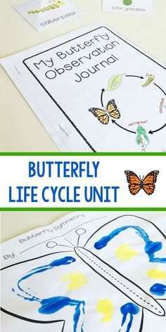 Butterfly life cycle lesson plans, writing activities, worksheets, craft, leveled books, centers materials, and more! Great for a preschool, Kindergarten, or first grade butterfly unit. $