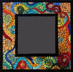 Color Waves by dunegrassmosaics on Etsy, $450.00 Mosaic Crafts, Mosaic Projects, Mosaic Art, Mosaic Glass, Mosaic Ideas, Fused Glass, Stained Glass, Glass Art, Mosaic Rocks