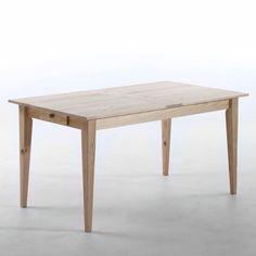 Table rectangulaire Pâquerette, Am.Pm 199 euros  on aime : la table en pin massif brut customisable