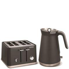 Morphy Richards Aspect Steel 4 Slice Toaster and Kettle Bundle - Titanium