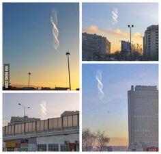 Amazing double helix cloud