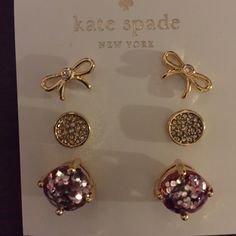 Kate Spade Triple Earring Set