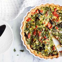 Lohi-purjopiirakka | Suolaiset leivonnaiset | Yhteishyvä Quiche, Breakfast, Morning Coffee, Quiches
