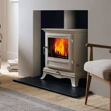 A think a wood-burning stove is a must. In cream, ideally.hate my horrid red brick fireplace(which is not working btw) looking for ideas of what if like it to look like. Gas Wood Burner, Wood Burner Fireplace, Fireplace Ideas, Cream Fireplace, Gas Stove Fireplace, Electric Fireplace, Fireplace Design, My Living Room, Home And Living